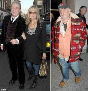 Sixties stalwarts Twiggy, with husband Leigh Lawson and photographer David Bailey