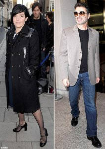 Singers Sharleen Spiteri and George Michael makes a rare public appearance at the star-studded exhibition