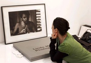 Photographer Mary McCartney curated the exhibition of her mother's work with Sir Paul