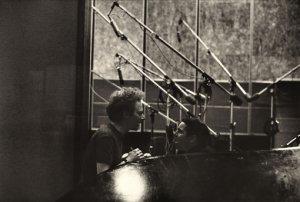 Simon and Garfunkel in the CBS Studios, New York, 1966    © 1967 Paul McCartney