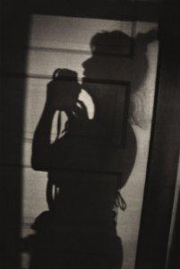 A silhouetted self-portrait of Linda McCartney in Arizona, 1991