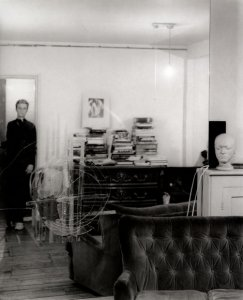 Self-portrait by Linda McCartney taken in the studio of British painter Francis Bacon, London, 1997.