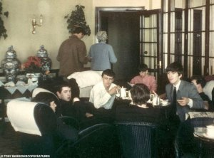 Famous bands: The Beatles chat with Gerry and The Pacemakers in the Weston-Super-Mare hotel in July 1963