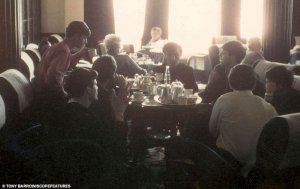 Tea time: The Beatles and Gerry and The Pacemakers enjoy a drop of tea at the hotel