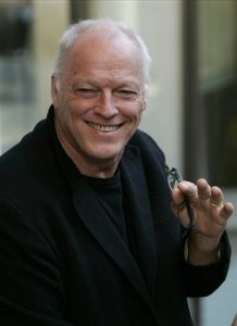 David Gilmour of the Pink Floyd poses for the photographers as he arrives for an exhibition of photographs by late Linda McCartney, in a central London's gallery,Wednesday April 23, 2008.