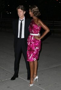 Model Iman and Singer David Bowie arrive at the Vanity Fair party for the 2008 Tribeca Film Festival held at the State Supreme Courthouse on Tuesday, April 22, 2008, in New York.