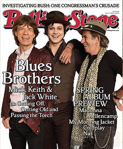 Mick Jagger, Jack White, and Keith Richards - RS 1050. April 17, 2008