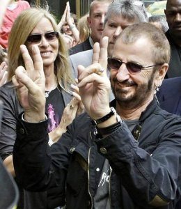 Ringo, the lovable Beatle, rocks on