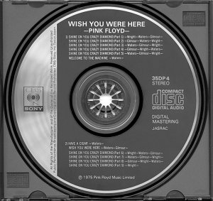 Pink Floyd Wish You Were Here 35DP 4 CBS / Sony Records 1983