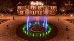Краснодарские битломаны из компании «ФонтанГрад» придумали оригинальный памятник ливерпульской четверке - поющий фонтан, в центре которого расположена скульптурная группа музыкантов.