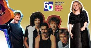 Портал Official Charts  опубликовал  рейтинг самых продаваемых альбомов Великобритании всех времен. Список из 60 пластинок возглавил сборник Greatest Hits британской группы Queen 1981 года. Он был продан тиражом 6,1 млн экземпляров, став единственным альбомом, который преодолел в Великобритании отметку в 6 млн проданных копий.