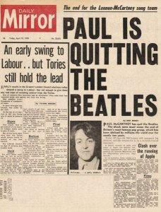 The end for the Lennon-McCartney song team