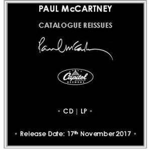 Восемь альбомов Пола Маккартни, Линды Маккартни и Wings будут переизданы в формате CD и на 180-граммовом виниле, а также выйдут ограниченным тиражом на цветном виниле. Об этом сообщает  The Daily Beatle .  Бонусных треков нет – есть только основные альбомные песни. Дата релиза - 17 ноября.  Речь идет о таких пластинках, как McCartney, RAM, Band On The Run, Venus And Mars, Wings At The Speed Of Sound, McCartney II, Tug Of War, Pipes Of Peace.