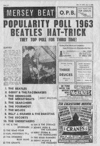 По опросу газеты Mersey Beat за 1963 год был опубликован список 20 лучших групп Ливерпуля.
