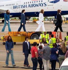 Восковые фигуры участников группы Битлз из Музея мадам Тюссо замечены в аэропорту Нэшвилла, сообщает  Beatles In London .  Таким образом авиакомпания British Airways отметила свой первый рейс в столицу штата Теннесси из Лондона.  В настоящее время восковые битлы выставлены в местном Музее мадам Тюссо в рамках экспозиции, посвященной британской музыке.