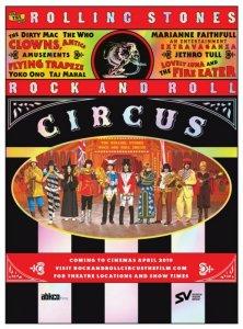 Фильм-концерт  The Rolling Stones Rock and Roll Circus  выходит в повторный прокат в США в апреле, сообщает официальная страница Джона Леннона в  фейсбуке .  Лента отреставрирована. Основой стал 35-миллиметровый интернегатив. Картина представлена со звуком Dolby Vision и Dolby Atmos. Утверждается, что обновленный фильм подарит фанатам уникальный опыт и эффект присутствия.  Представление состоялось 11 декабря 1968 года. Оно вышло в виде музыкального фильма и альбома в 1996-м. Помимо самой группы The Rolling Stones, в шоу  принимал участие  коллектив The Dirty Mac, в который вошли Джон Леннон, Эрик Клэптон, Митч Митчелл и Кит Ричардс. Также на цирковую арену вышли другие знаменитые музыканты.