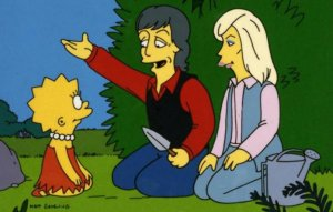 Пол Маккартни продолжает следить, чтобы Лиза Симпсон оставалась вегетарианкой, сообщает  NME  со ссылкой на консультанта сериала «Симпсоны» Дэвида Миркина.  Музыкант и его жена Линда были приглашенными звездами в серии Lisa The Vegetarian (1995). По сюжету, Лиза отказывается от употребления мяса после встречи с супругами Маккартни.  Как утверждает Миркин, каждый раз, когда он встречается с сэром Полом, тот всегда проверяет, вегетарианка ли Лиза: «И его всегда окружают девять-десять юристов, так что это довольно пугающе».