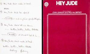 Рукопись Hey Jude продана на торгах Julien's Auctions за $910 тыс. Сумма в девять раз превышает изначальную оценку, сообщает  The Guardian .  Всего на онлайн-аукционе в Нью-Йорке было представлено более 250 артефактов. Еще одним топ-лотом стала мембрана для бас-барабана с логотипом Битлз, который использовался во время первого тура по Северной Америке в 1964 году. Он ушел с молотка за $200 тыс.  Деревянная сцена, на которой выступали битлы в Ливерпуле, продана за $25,6 тыс., рисунок Bagism Джона Леннона и Йоко Оно — почти за $94 тыс. Пепельница, которую использовал Ринго Старр в студии Abbey Road, ушла за $32,5 тыс.  Аукцион состоялся в пятницу, 10 апреля. Он был приурочен к 50-летию распада группы.